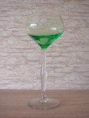 Stengelglas, wohl Theresienthaler Glasfabrik, um 1901-03.. Glaskunstgalerie Raphael