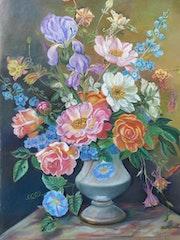 Bouquet en hommage à Albert Williams. Claudine Marquet