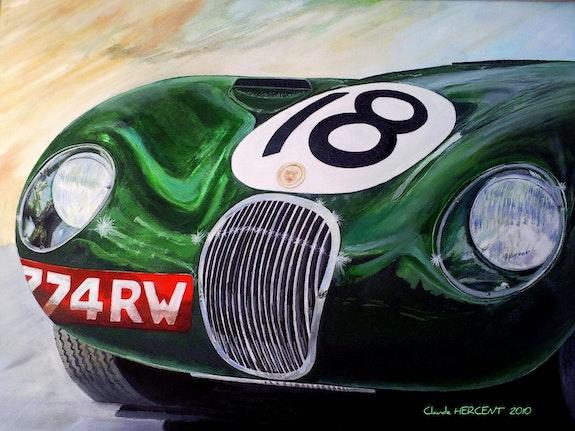 Jaguar c verte des 24 heures du Mans 1953. Claude Hercent Cloder100