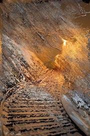 Escalier enneigé. Marie Carteron