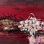 «Chaos» acrylique sur toile. Audrey - Ôr'ca Création