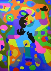 I want something, art, artist, painting, acrylic on canvas, bright colours. Rajat Verma