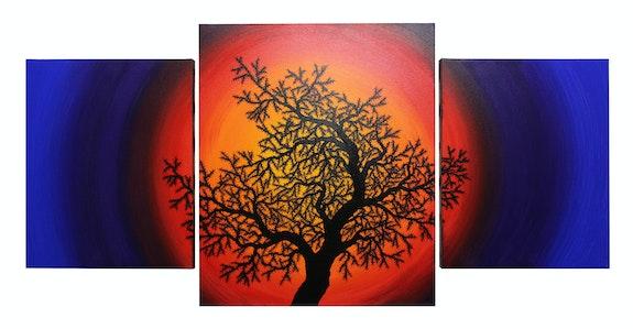 Modern Triptych : Silhouette tree of life.. Jonathan Pradillon Jonathan Pradillon