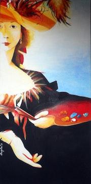 «Elisa» (d'après auto-portrait de Elisabeth Vigée Le Brun). Sophie Duplain