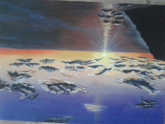 Un coucher de soleil.  Fabienne Derambure