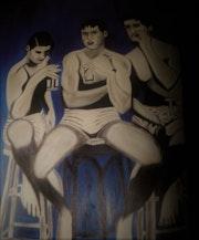 «Les trois amis». Eric Facchinetti