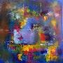Tuval üzerine Yağlı boya, 100x100 cm.. Canip Doğutürk