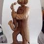 Clown saxophoniste. Gaston Hetsch