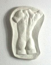 Mänlicher Rücken-Akt. Angelika Sorg