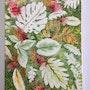 Tapis de feuilles / acrylique et encres sur toile. Mariraff