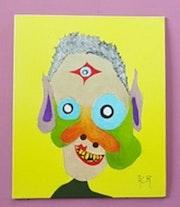 Tableau acrylique (89) «L'inconnu». Acr.