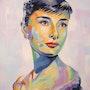 Portrait célébrité Audrey Hepburn,. Olivier Boutin