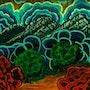 Landscape under billowing clouds. George Hutton Hunter