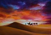 Caravane sur dunes.