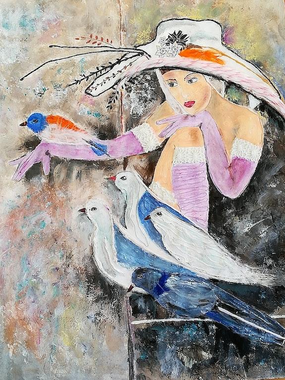 Glamour et pigeons. Michèle Michèle G