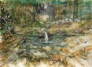 La petite cascade de la forêt.