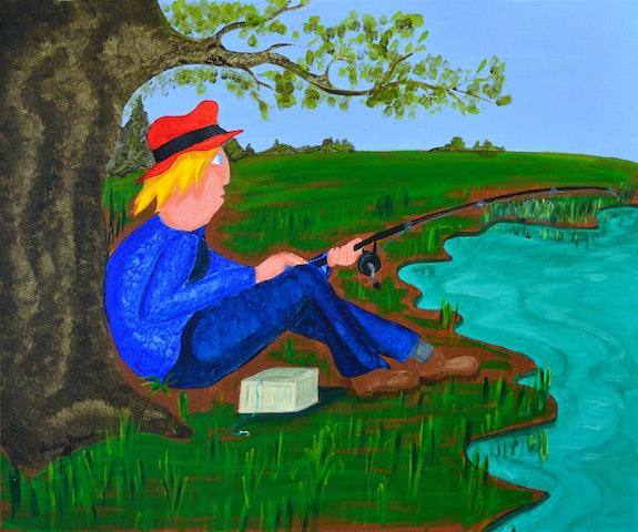 A la pêche. Christian Ragaine
