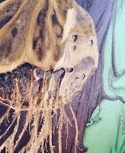 Painting prana- deep silence - detail.