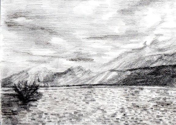 Le lac en hiver. A Anne-Marie Vandorpe Deligne
