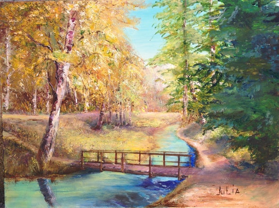 Petit pont à Allemont. Julia Colletto Julia. Colletto