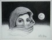 Mujer Kurda con Luna.