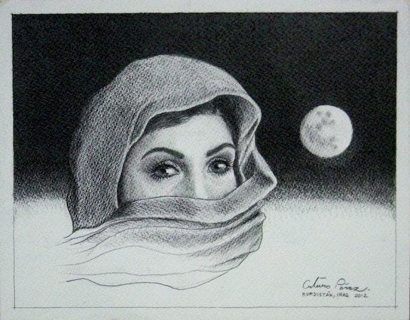 Mujer Kurda con Luna. Arturo Pérez Viejo Arturo Pérez Viejo