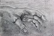 Männerhand.