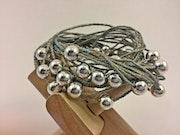 Stainless Steal & Silver Jute Bracelet - necklace. Mt Art & Design