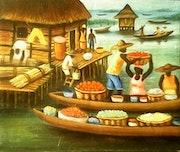 Jour de marché. (Femme tôfin). Sroboua Amani