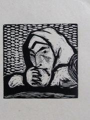 Paul Gauguin, vignette : femme en prière.. Historien d'art, Archéologue; Chercheur Free-L.