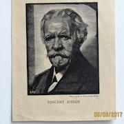 L. -J. Soulas : portrait de Vincent d'indy. Historien d'art, Archéologue; Chercheur Free-L.
