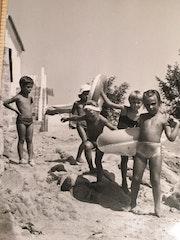 Le chemin vers la plage des Caselles, Campomoro 1972. Santo