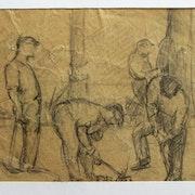 Maximilien Luce : saisie d'attitudes d'ouvriers. Recto 2.. Historien d'art, Archéologue; Chercheur Free-L.