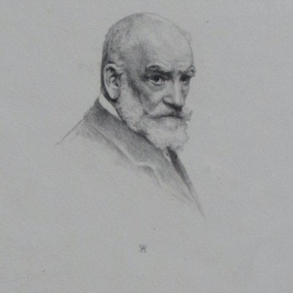 Frédéric A. Laguillermie, Portrait de Léon Bonnat.. F. A. Laguillermie Historien d'art, Archéologue; Chercheur Free-L.