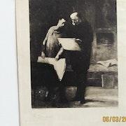 Honoré Daumier : Les amateurs d'estampes.. Historien d'art, Archéologue; Chercheur Free-L.