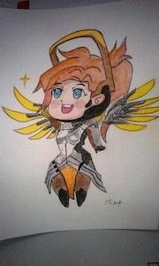 Overwatch l'ange. Fantou16
