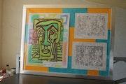 Grand cadre trois gravures. Guilhem Perros
