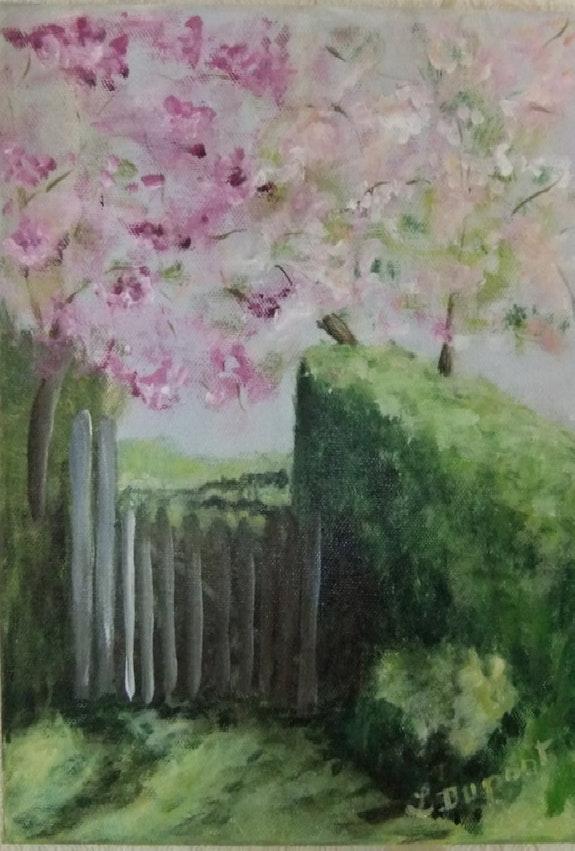 Le printemps au jardin. Lucienne Dupont Lucienne Dupont