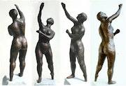 Ballettstudie 1 (1996), 4 Ansichten der gleichen Pose. Hajo Horstmann