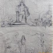 Gustave moreau (attribuables à) : deux études symbolistes.. Historien d'art, Archéologue; Chercheur Free-L.