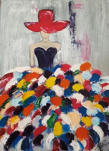 Danseuse toute en couleurs. A Fleur De Paume