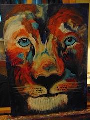Blue Eyes Lion. Rodster Art