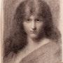 Jean-Jacques. Henner : portrait de femme.. Historien d'art, Archéologue; Chercheur Free-L.