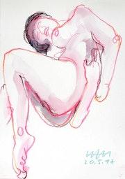Female Nude Akt #7388 (1997), Tanzstudie # 4. Hajo Horstmann
