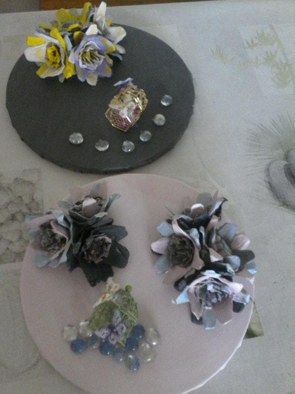 Fleurs de printemps et papillons. Moi Meme Chantal Fiorato