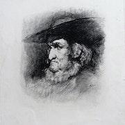 Théodule ribot : Homme à la barbe et au chapeau à large bord.. Historien d'art, Archéologue; Chercheur Free-L.