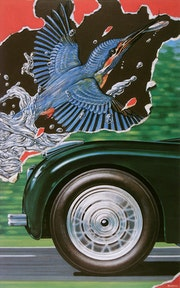 Flügel und Rad. Illustration & Illusion