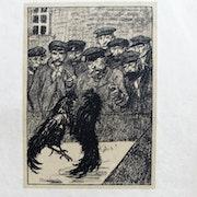 Alexandre steinlen : Combat de coqs. Historien d'art, Archéologue; Chercheur Free-L.