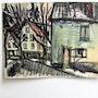 Gen paul (attribuable à) : Vieille maison à Neufchatel.. Historien d'art, Archéologue; Chercheur Free-L.