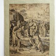 Cornélis cort : Mise au Tombeau, 1568.. Historien d'art, Archéologue; Chercheur Free-L.